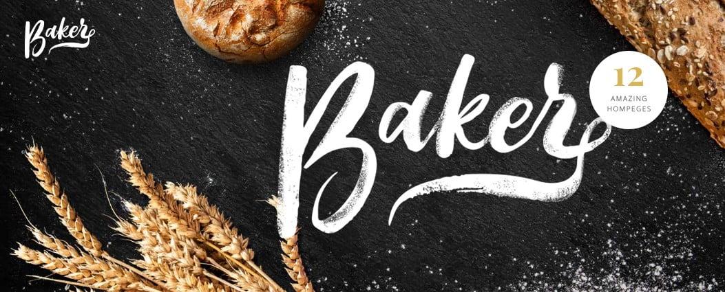 Baker - 33+ BEST Coffee, Tea & Bakery WordPress Themes [year]