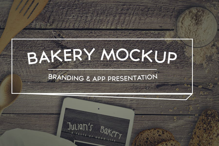 Bakery-Mockup - 48+ BEST Web & Graphic Designers PSD Mockup Templates [year]