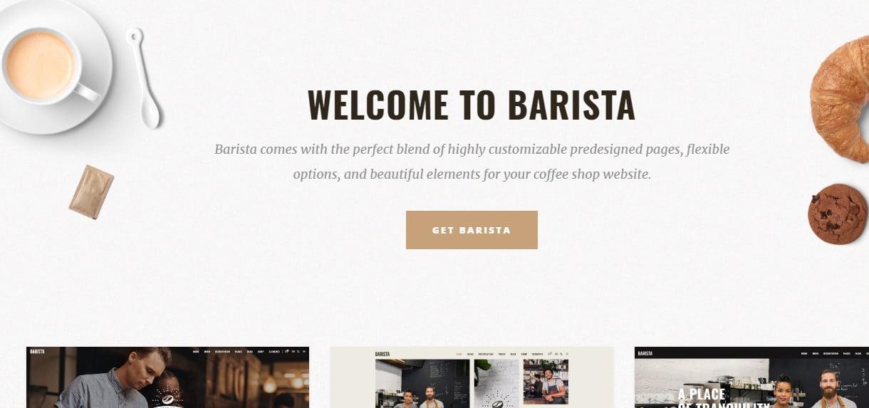 Barista - 33+ BEST Coffee, Tea & Bakery WordPress Themes [year]
