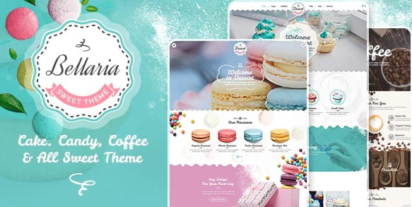 Bellaria - 40+ Coffee & Tea Website WordPress Themes [year]