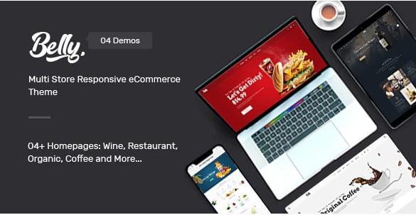 Belly - 40+ Coffee & Tea Website WordPress Themes [year]
