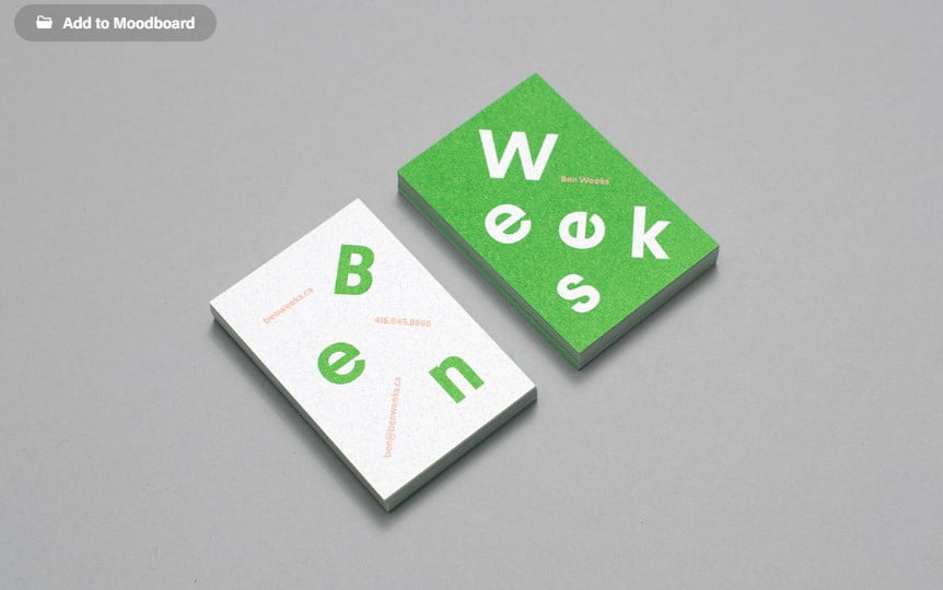 Ben-Weeks - 53+ FREE Typographic Business Cards IDEA [year]