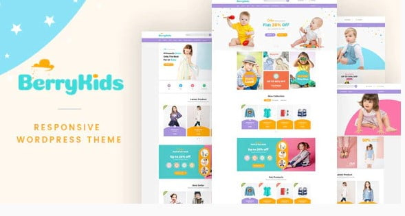 BerryKid-1 - 35+ COOL Toy and Game Store WordPress Themes [year]