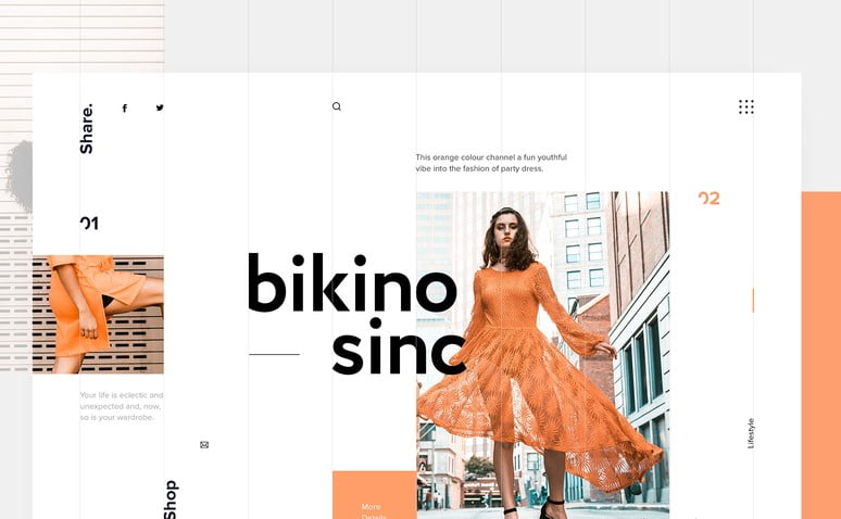 Bikino-Sinc - 63+ BEST FREE Grid Web UI Design IDEA [year]