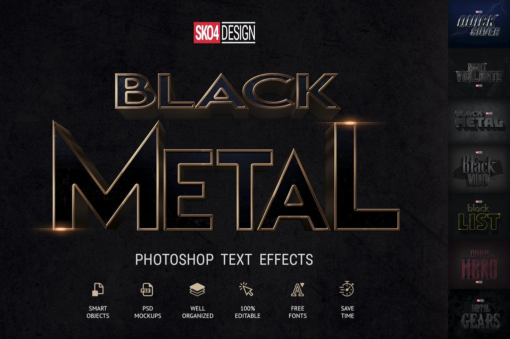 Black-Metal-1 - 33+ NICE Shiny Metallic Photoshop Effect Styles [year]