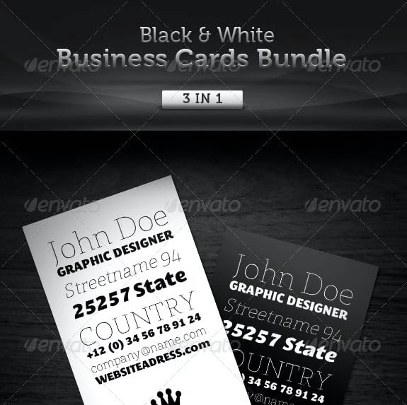 Black-White - 53+ FREE Typographic Business Cards IDEA [year]