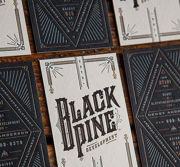 BlackPine-Branding - 53+ FREE Typographic Business Cards IDEA [year]