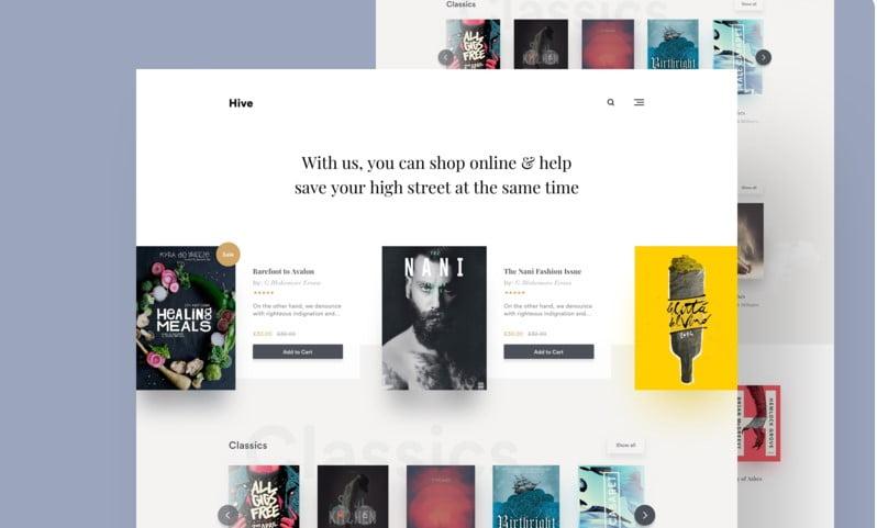 Book-Store - 63+ BEST FREE Grid Web UI Design IDEA [year]