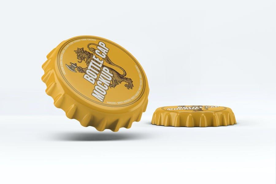 Bottle-Cap - 48+ BEST Web & Graphic Designers PSD Mockup Templates [year]