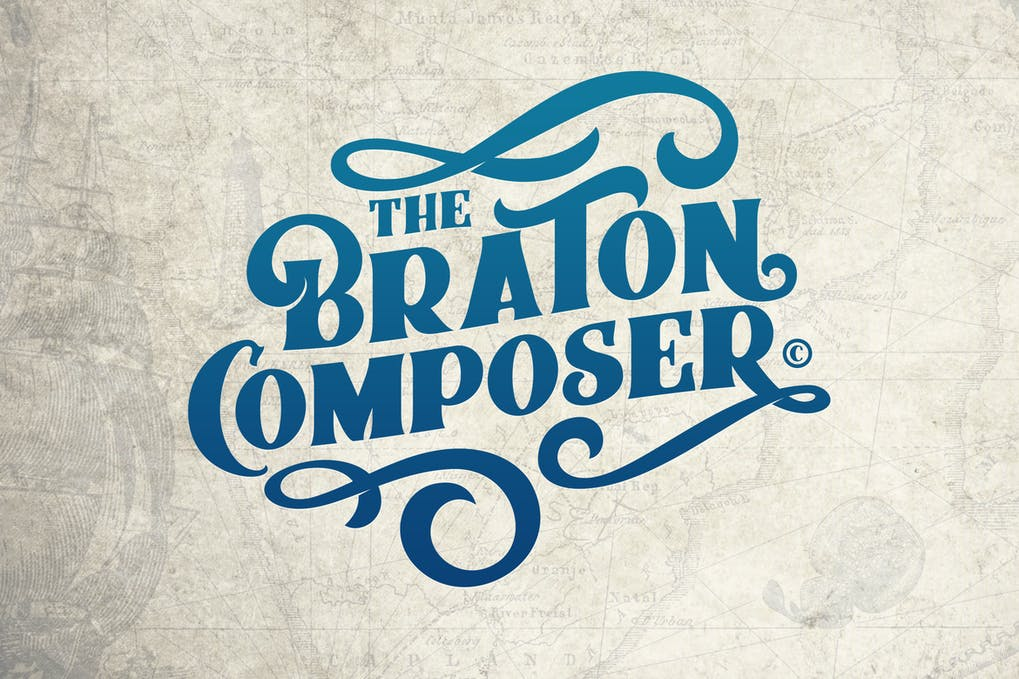 Braton-Composer - 38+ COOL Ornate Vintage & Retro Fonts [year]
