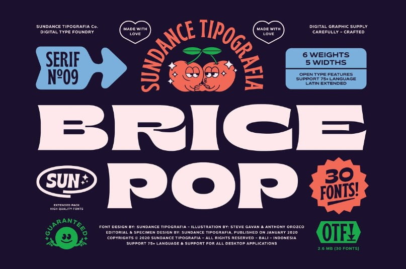 Brice-Font-Family - 33+ FREE Typographic Sticker Designs IDEA [year]