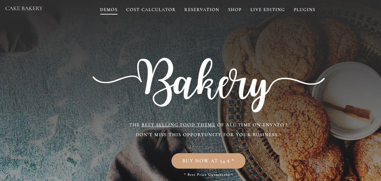 Cake-Bakery - 33+ BEST Coffee, Tea & Bakery WordPress Themes [year]
