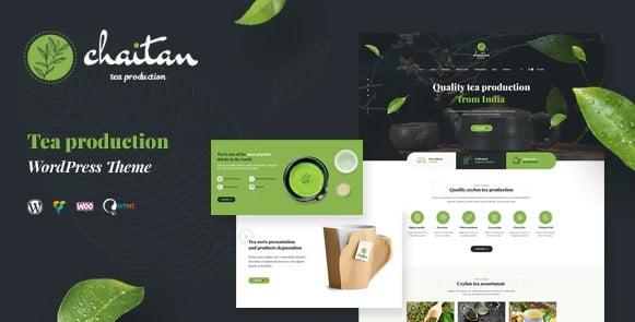 Chaitan - 40+ Coffee & Tea Website WordPress Themes [year]