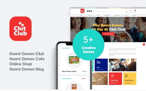 Chit-Club - 35+ COOL Toy and Game Store WordPress Themes [year]