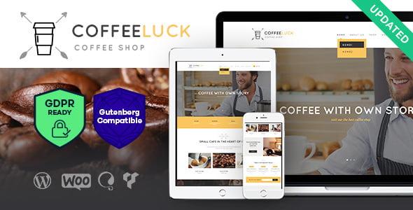 Coffee-Luck-1 - 40+ Coffee & Tea Website WordPress Themes [year]