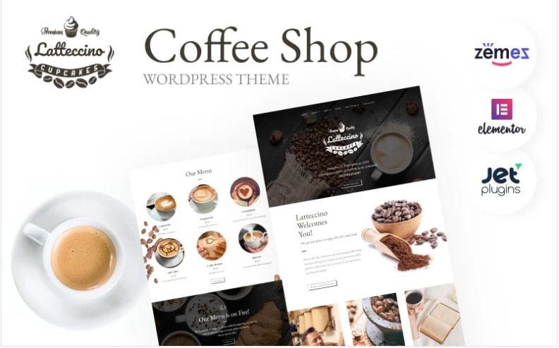 Coffee-Tea-Bakery-WordPress - 33+ BEST Coffee, Tea & Bakery WordPress Themes [year]