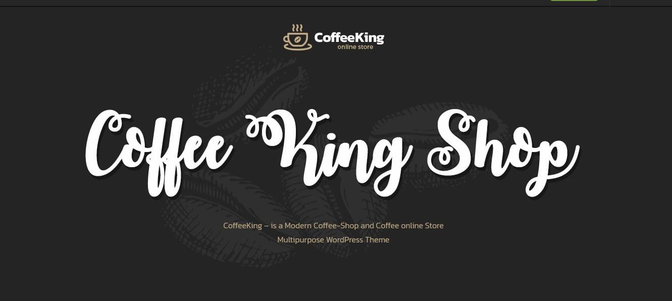 CoffeeKing-1 - 33+ BEST Coffee, Tea & Bakery WordPress Themes [year]