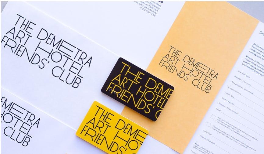 Demetra-Art-Hotel-1 - 53+ FREE Typographic Business Cards IDEA [year]