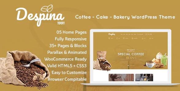 Despina-1 - 40+ Coffee & Tea Website WordPress Themes [year]