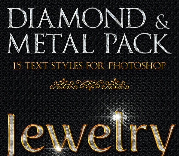 Diamond-Metal - 33+ NICE Shiny Metallic Photoshop Effect Styles [year]