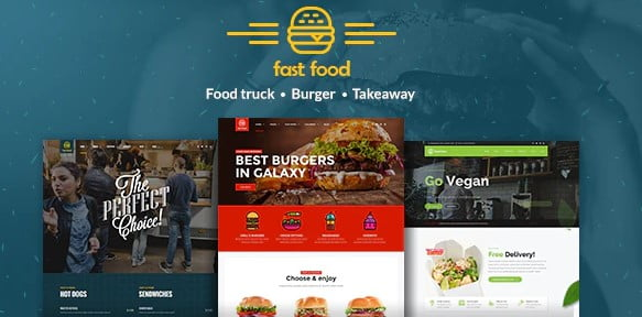 Fast-Food - 35+ AWESOME Food & Drink WordPress Theme [year]