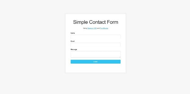 FormBucket - 39+ FREE CSS Contact Form Design IDEA [year]