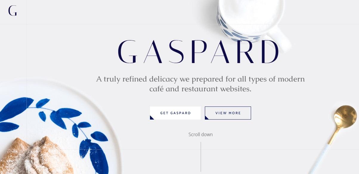 Gaspard - 33+ BEST Coffee, Tea & Bakery WordPress Themes [year]