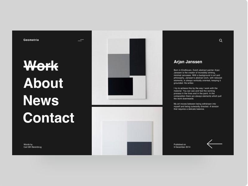 Geometria - 63+ BEST FREE Grid Web UI Design IDEA [year]
