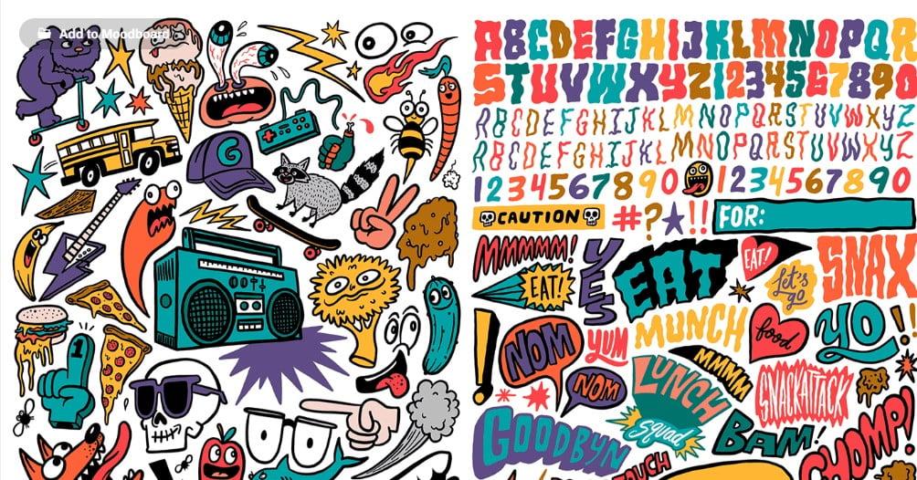 Goodbyn-Sticker-sets - 33+ FREE Typographic Sticker Designs IDEA [year]