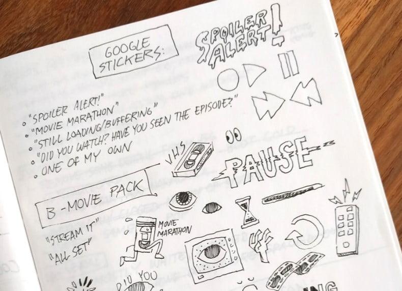 Google-Stickers-1 - 33+ FREE Typographic Sticker Designs IDEA [year]