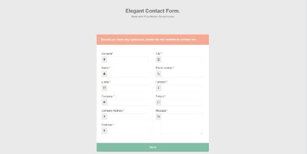 Grandvincent-Marion - 39+ FREE CSS Contact Form Design IDEA [year]