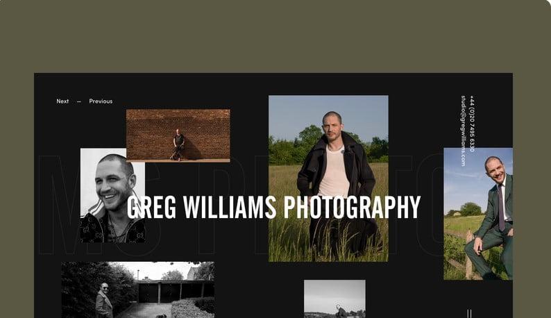 Greg-Williams-Photographer - 63+ BEST FREE Grid Web UI Design IDEA [year]