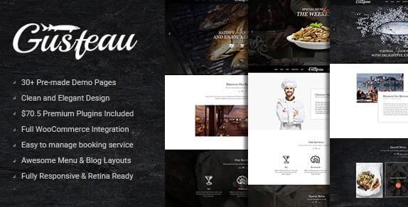 Gusteau - 40+ Coffee & Tea Website WordPress Themes [year]