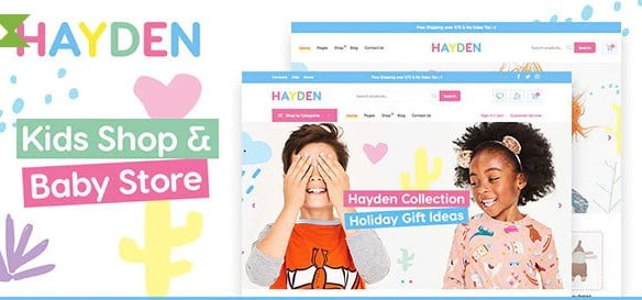 Hayden - 35+ COOL Toy and Game Store WordPress Themes [year]