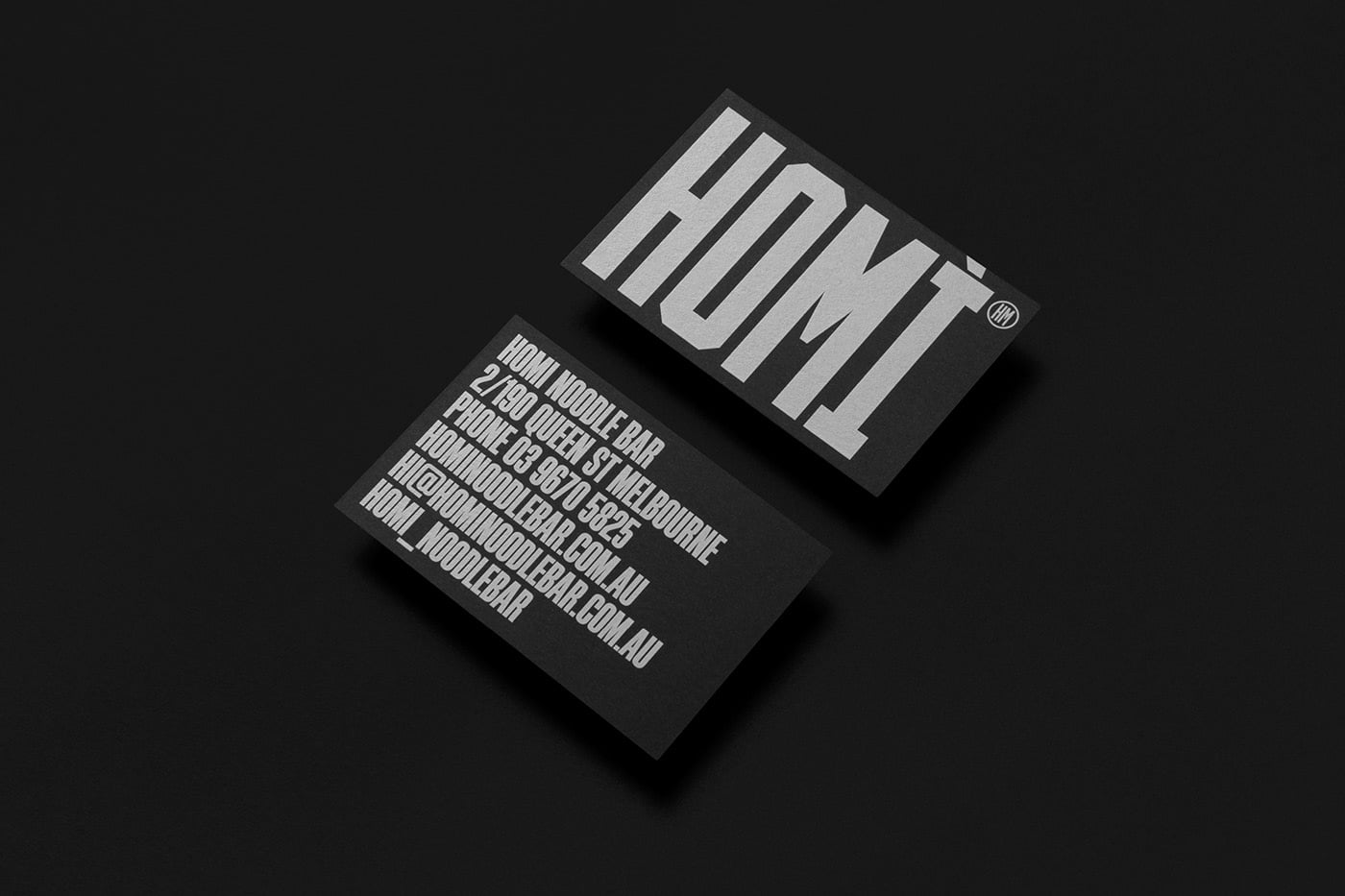 Homi-1 - 53+ FREE Typographic Business Cards IDEA [year]