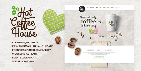 Hot-Coffee-2 - 40+ Coffee & Tea Website WordPress Themes [year]