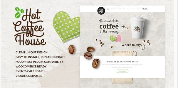 Hot-Coffee-3 - 35+ AWESOME Food & Drink WordPress Theme [year]