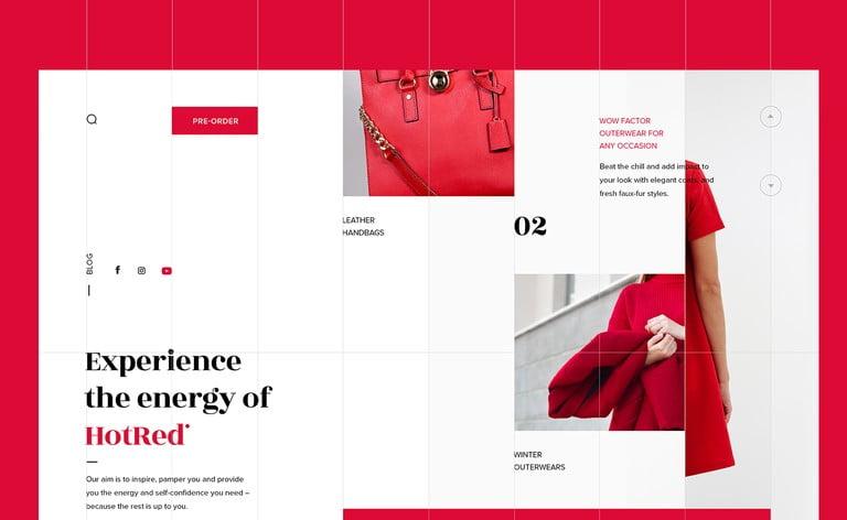 HotRed-Store - 63+ BEST FREE Grid Web UI Design IDEA [year]