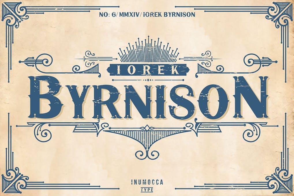 Iorek-Byrnison - 38+ COOL Ornate Vintage & Retro Fonts [year]