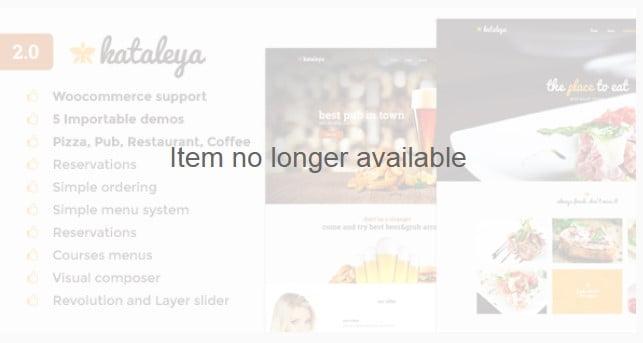 Kataleya - 40+ Coffee & Tea Website WordPress Themes [year]