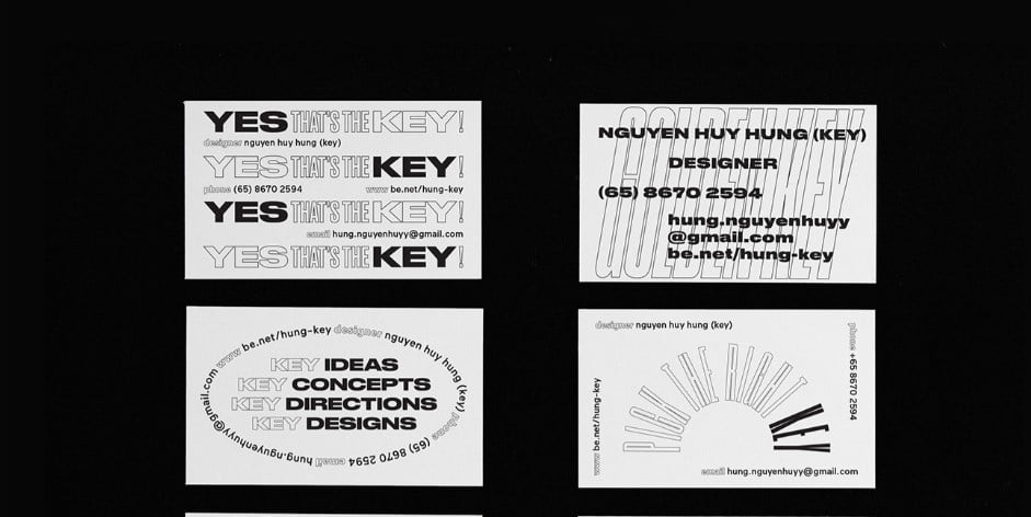 Key-Namecard-1 - 53+ FREE Typographic Business Cards IDEA [year]