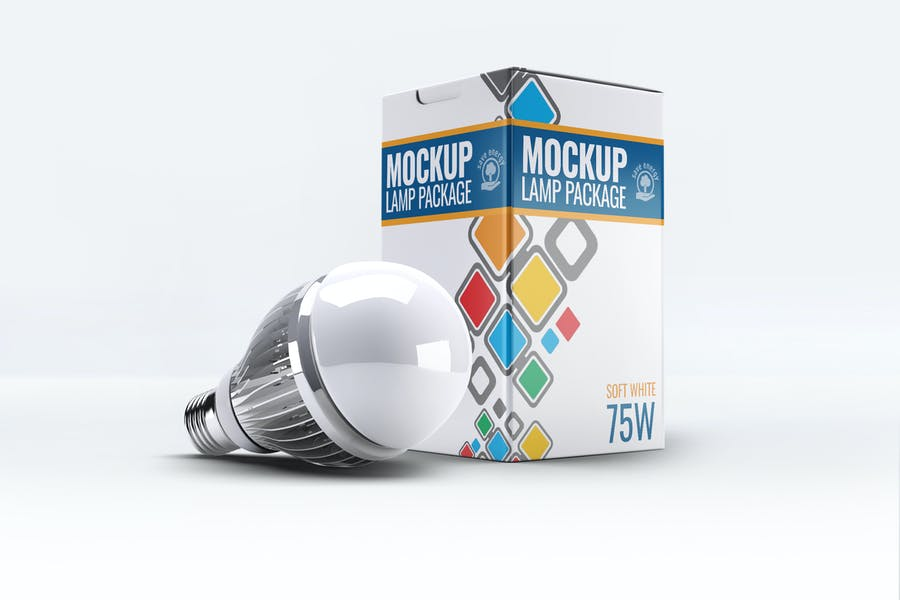 Led-Lamp - 48+ BEST Web & Graphic Designers PSD Mockup Templates [year]