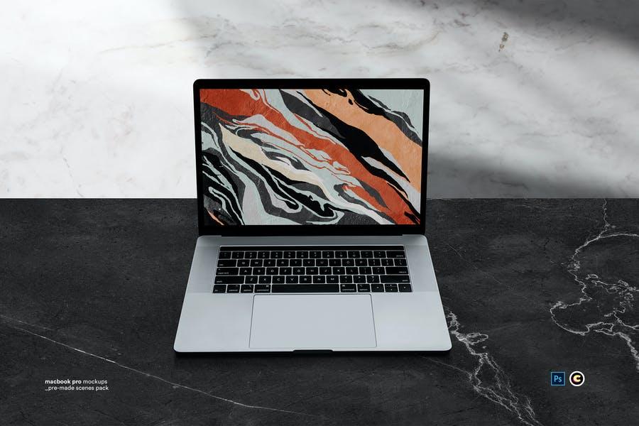 Macbook-Laptop - 48+ BEST Web & Graphic Designers PSD Mockup Templates [year]