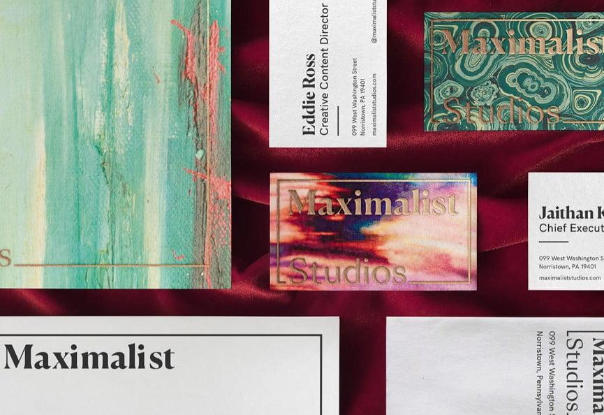 Maximalist-Studios-2 - 53+ FREE Typographic Business Cards IDEA [year]
