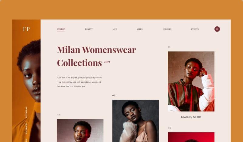 Milan-Womenswear - 63+ BEST FREE Grid Web UI Design IDEA [year]