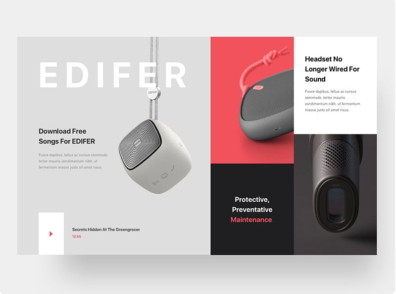 Minimal-Web - 63+ BEST FREE Grid Web UI Design IDEA [year]