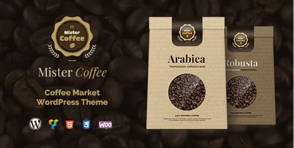 Mister-Coffee-1 - 40+ Coffee & Tea Website WordPress Themes [year]