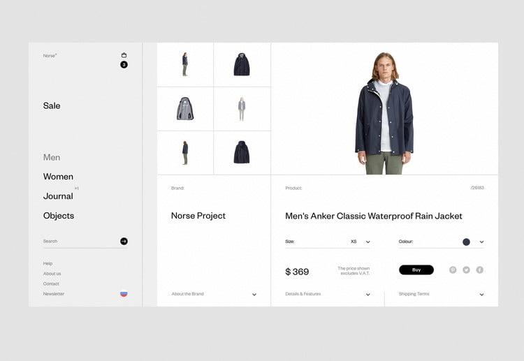 Norse-Store - 63+ BEST FREE Grid Web UI Design IDEA [year]