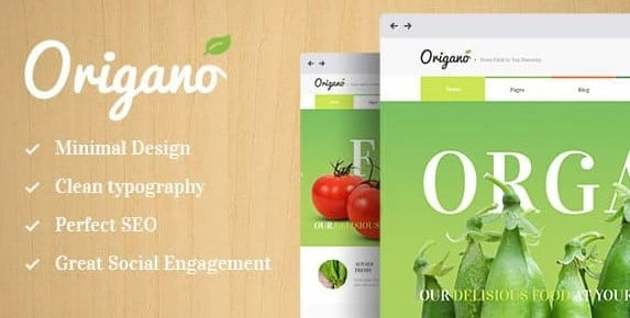 Origano - 35+ AWESOME Food & Drink WordPress Theme [year]