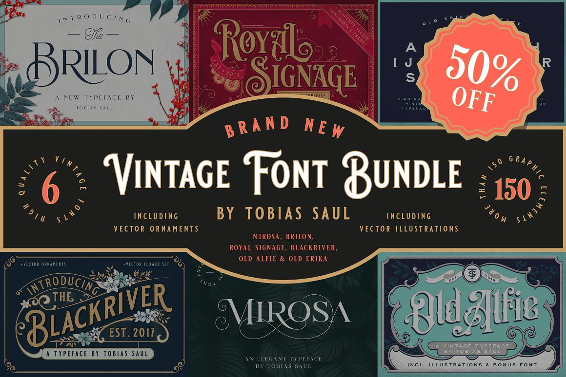 Ornate-Vintage-Retro-Fonts - 38+ COOL Ornate Vintage & Retro Fonts [year]